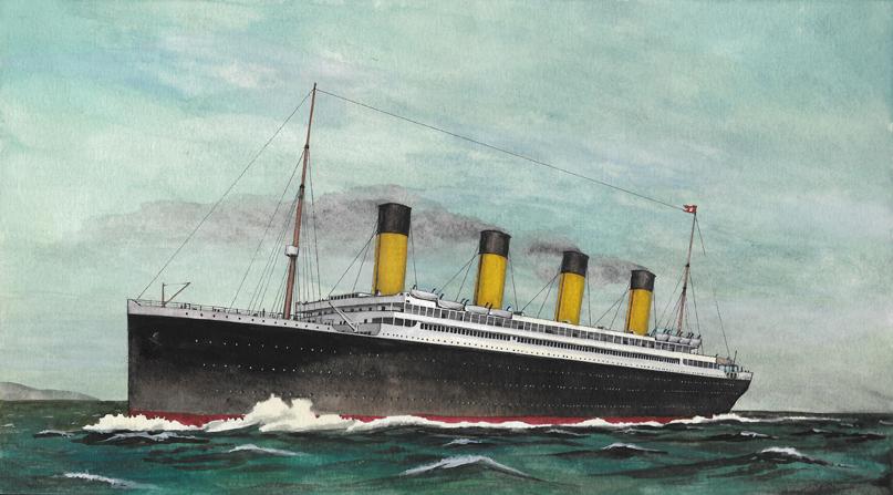 RMS Titanic painting