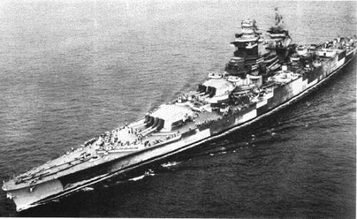 Battleship Richelieu in 1943