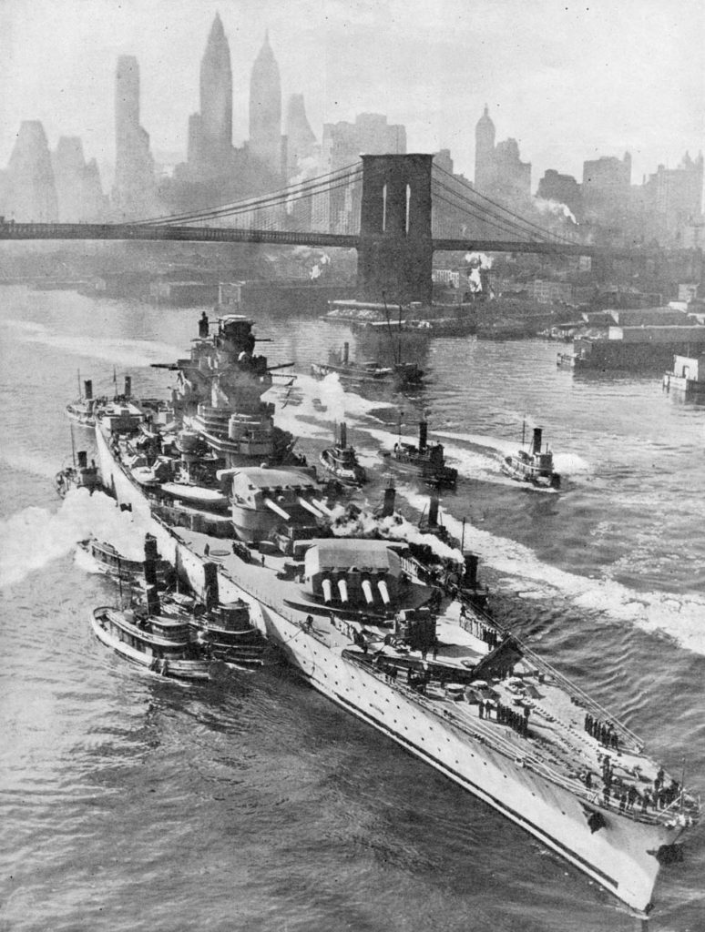 The Richelieu in New York harbour, 1943