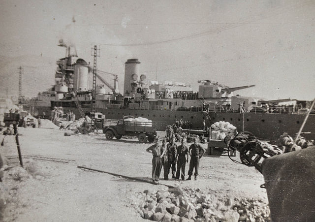 Cruiser Suffren at Toulon 21 Sept. 1945