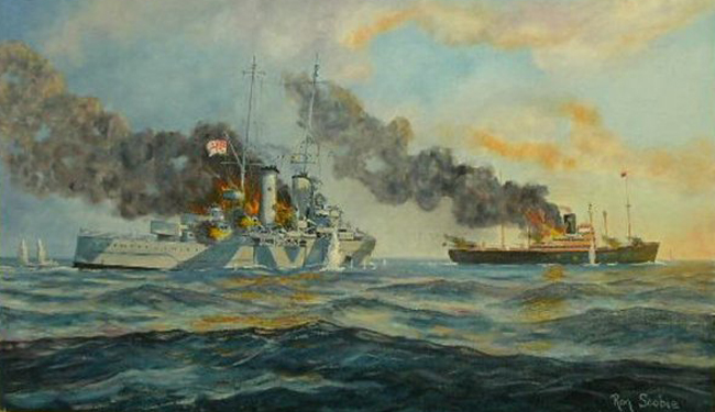 Battle between HMAS Sydney and Kormoran