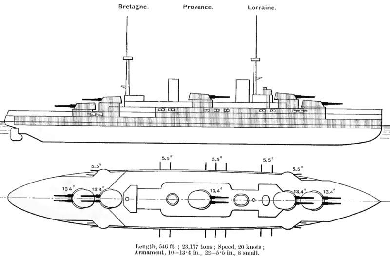Bretagne battleship brassey's naval annual
