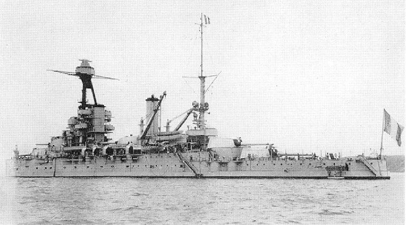 Provence battleship post 1935 rear