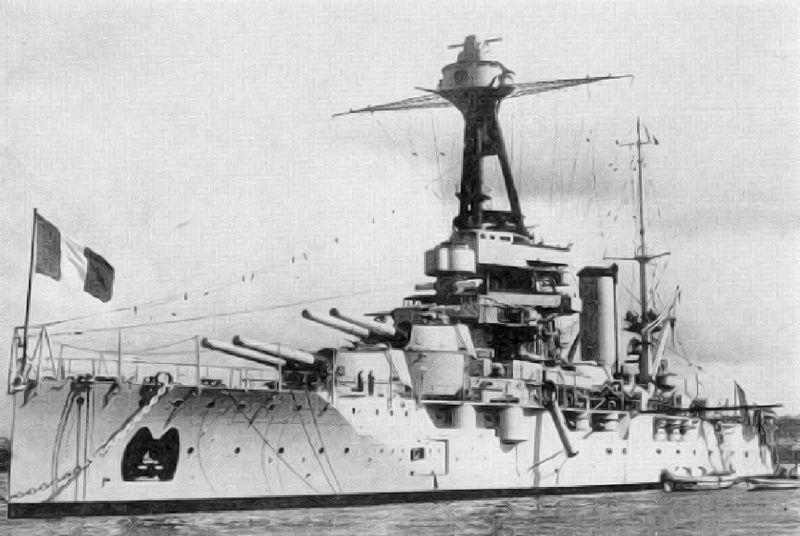Battleship provence after refit