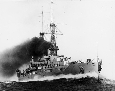 USS New York in trials, 1915