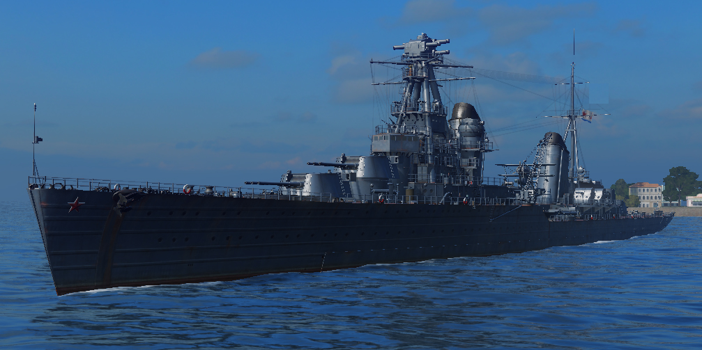 Rendition of the Kirov in world of warships
