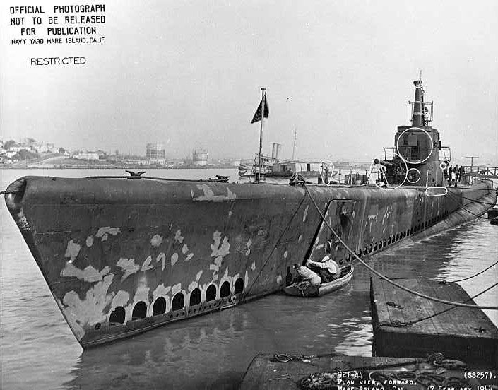 USS Harder, 1945, Mare Island Navy Yard