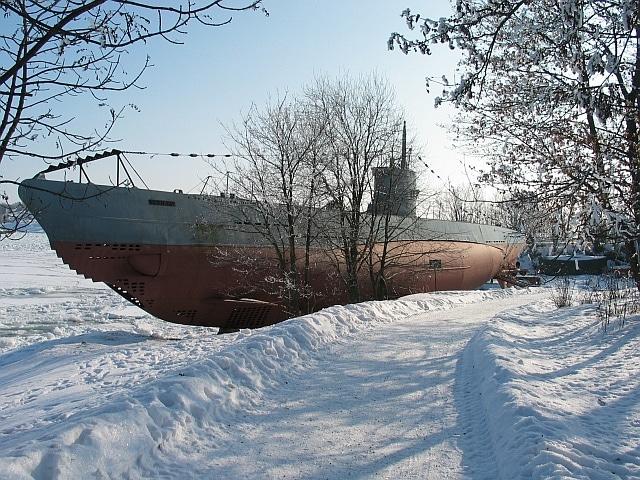 Vesikko preserved at Susisaari island in Suomenlinna near Helsinki