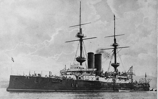 HMS Ocean in 1900