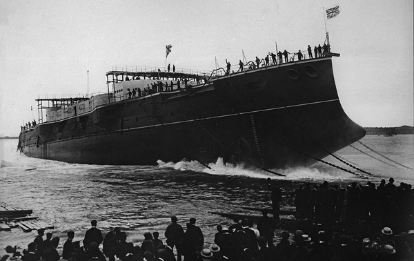 Launching of HMS Vengeance