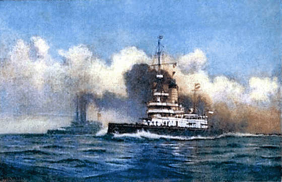 Painting of the SMS Wien