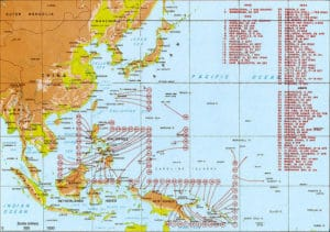 Landings in the Pacific