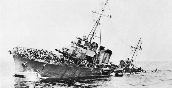 Bourrasque sunk at Dunkirk