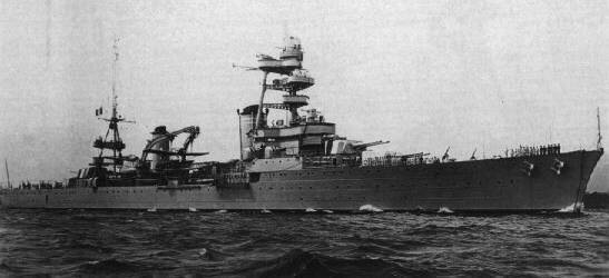Cruiser Foch, wartime.