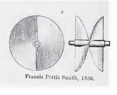 Francis Petitt Smith patent for a screw propeller, 1836