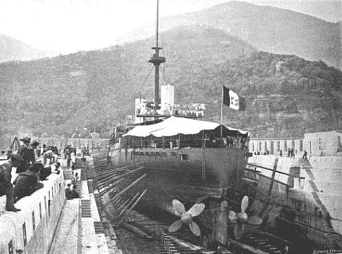 Sardegna in dry dock