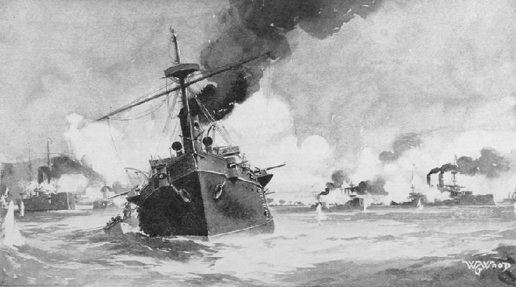 Drawing of the battle by W.G. Wood