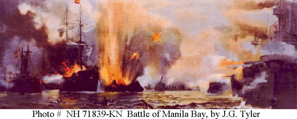 Painting of the battle by J.G. Tyler (USN archives)