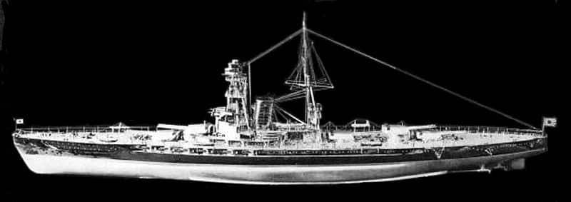 Model of the Kaga
