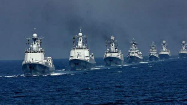 Chinese PLAN battle line