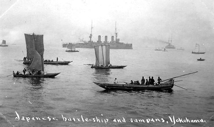 Battleship Sagami at Yokohama, 1908