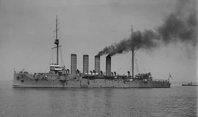 Captured Cruiser Soya, 1907