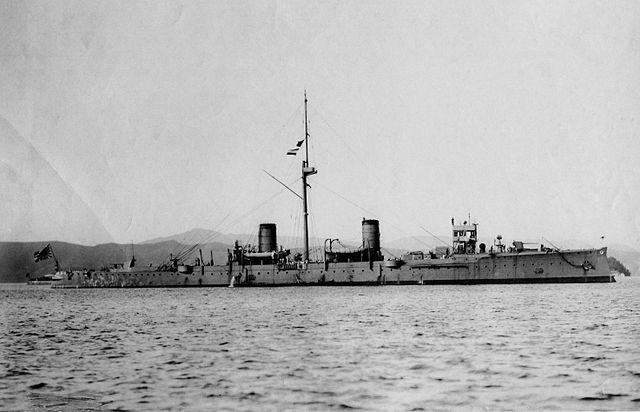 Cruiser Suzuya at Kure, 1908