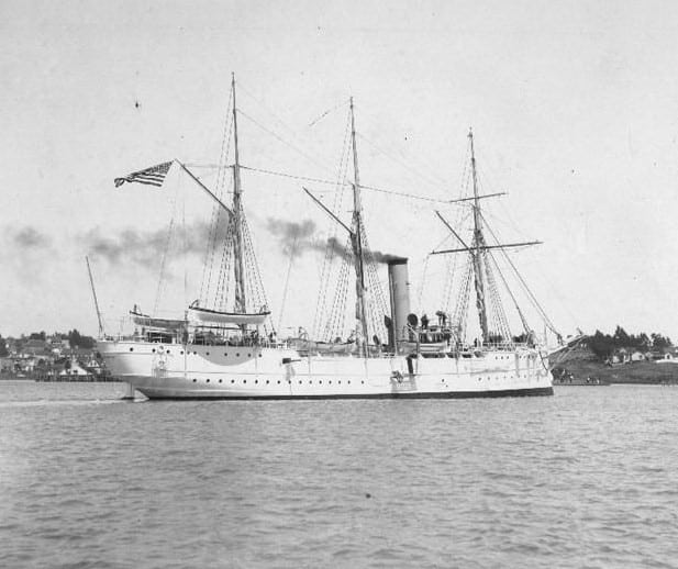 Revenue cutter USRC McCulloch circa 1900