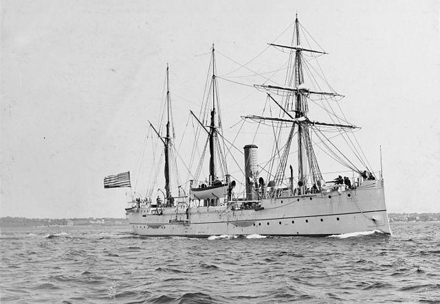 Gunboat USS Petrel, circa 1900