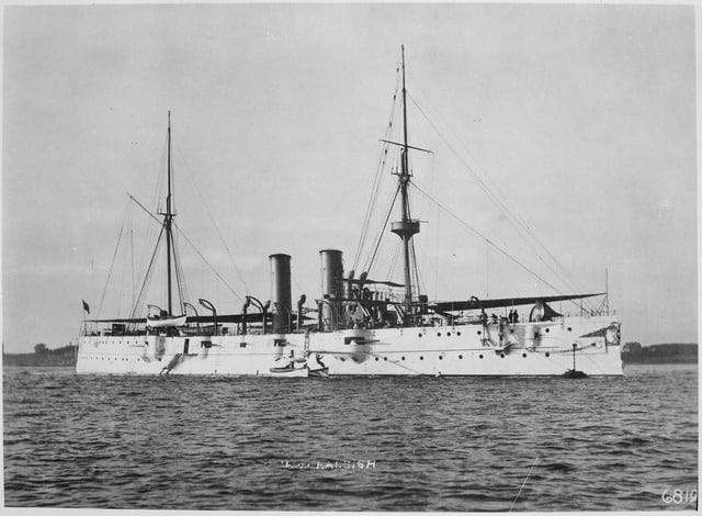 Cruiser USS Raleigh (C8) circa 1900
