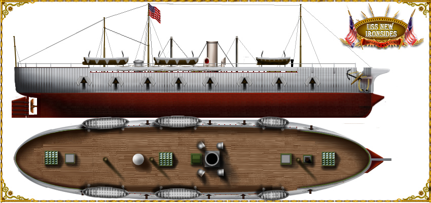 USS New Ironsides after reconstruction