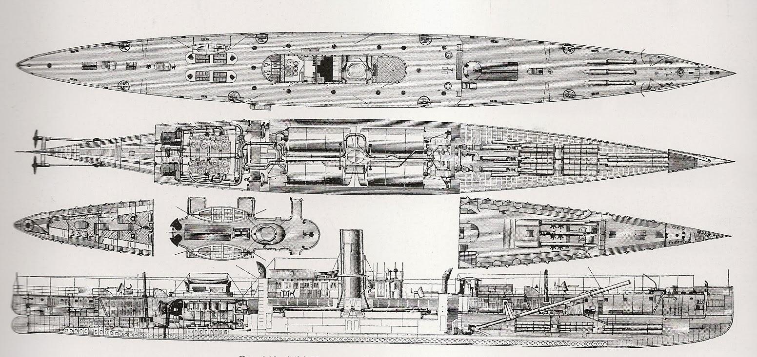 USS vesuvius blueprint