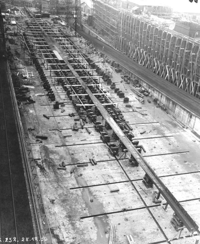 A class aircraft carrier at Kiel