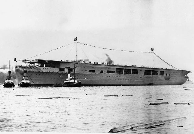 Graf Zeppelin being launched in December 1938