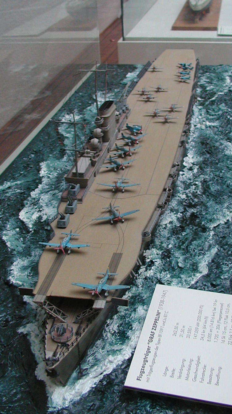 Model of the ship at the Aeronauticum