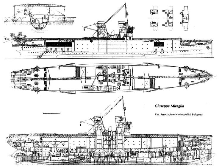 Plans schematics of the Miraglia