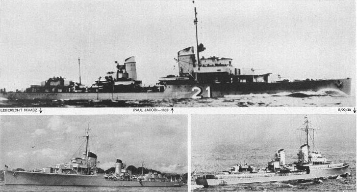 Destroyers of the Maas class
