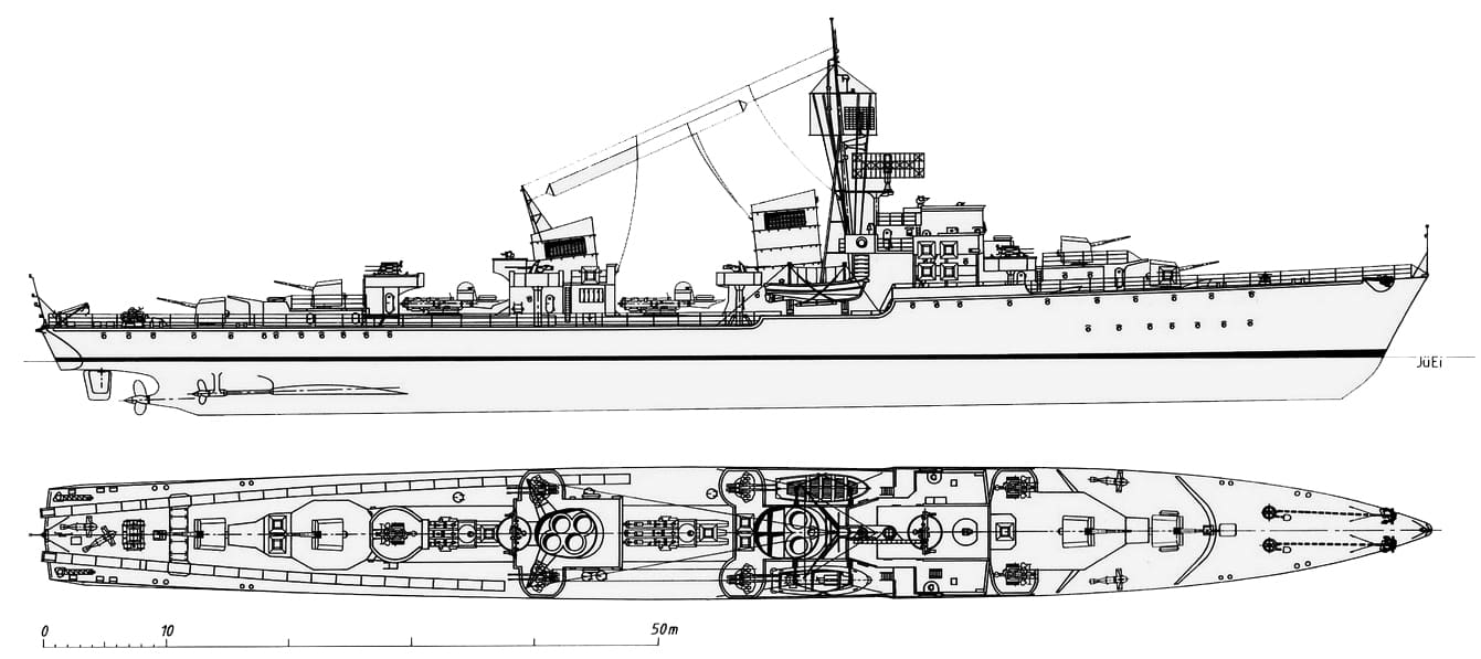 German reconstitution of the 1942 class design - JüEi