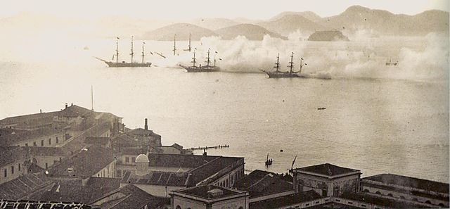 The Imperial Brazilian Navy in training