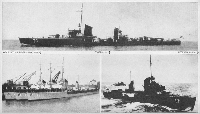 Wolf and other 1924 class ships