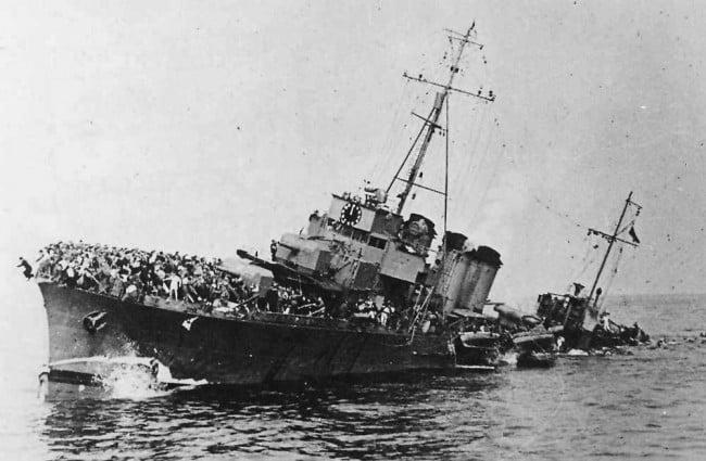 Bourrasque sinking