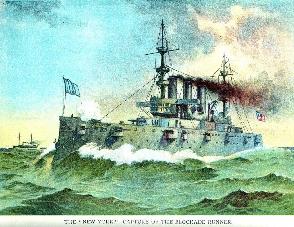 USS New York in 1898