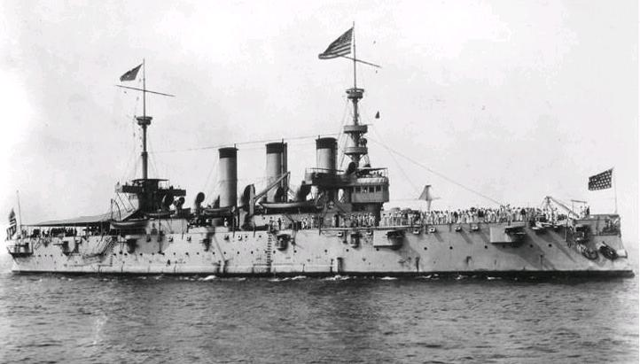 USS New York at viory celebrations 1898 naval review