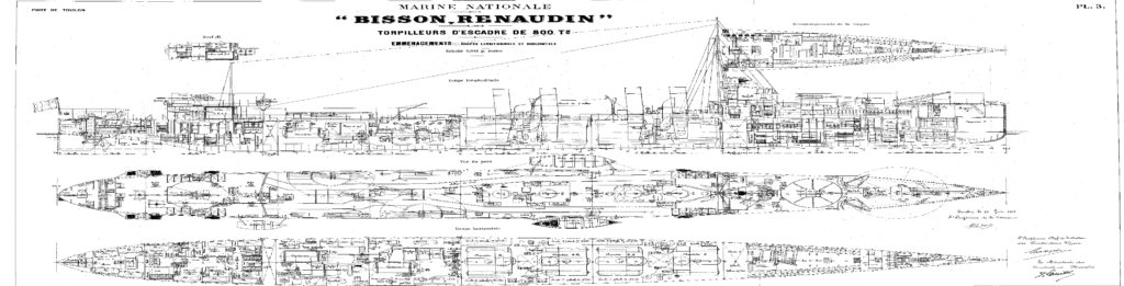 Blueprint of the Bisson class of 1912