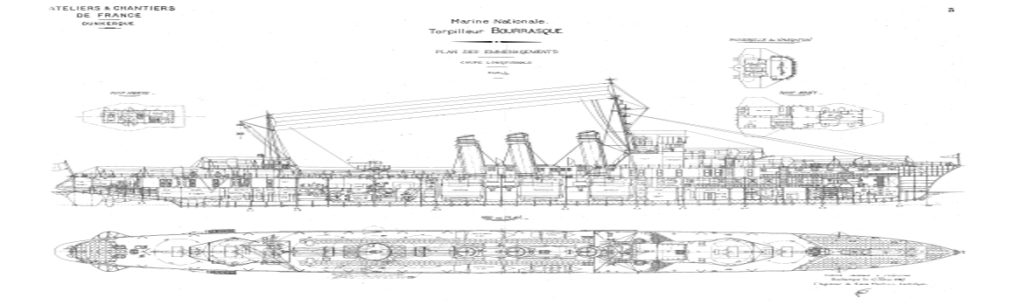 French destroyers of ww2 blueprint of the 1924 bourrasque malvernweather Image collections