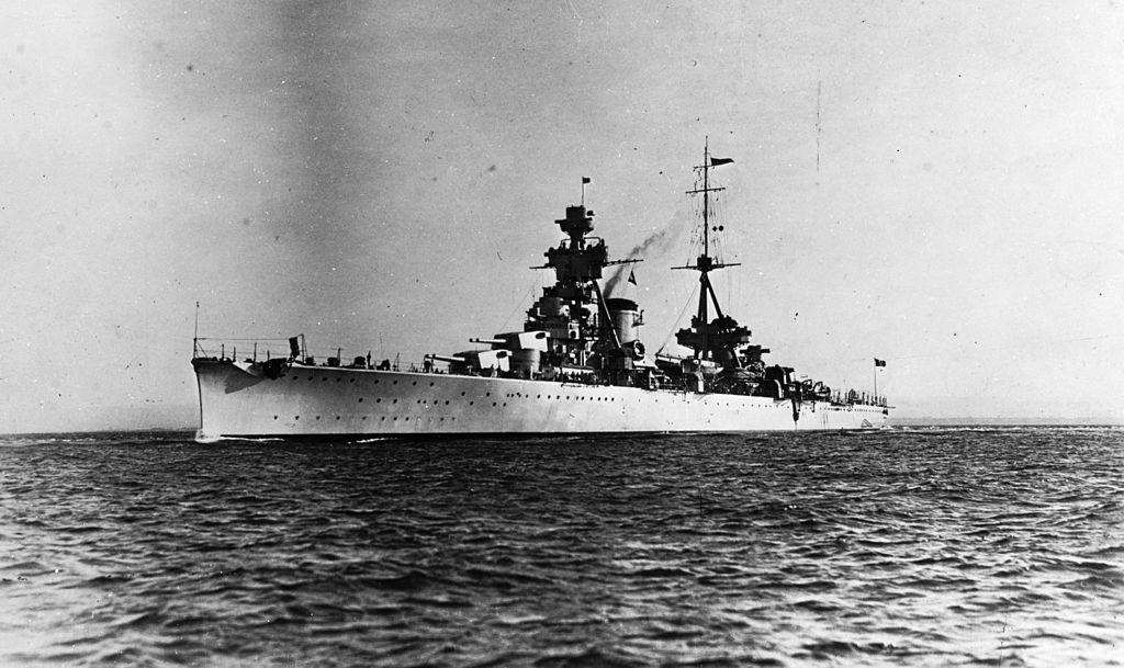Cruiser Trieste in 1930