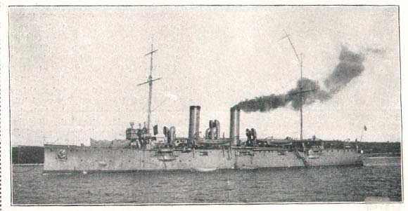 SMS Zenta during the war, in grey livery.