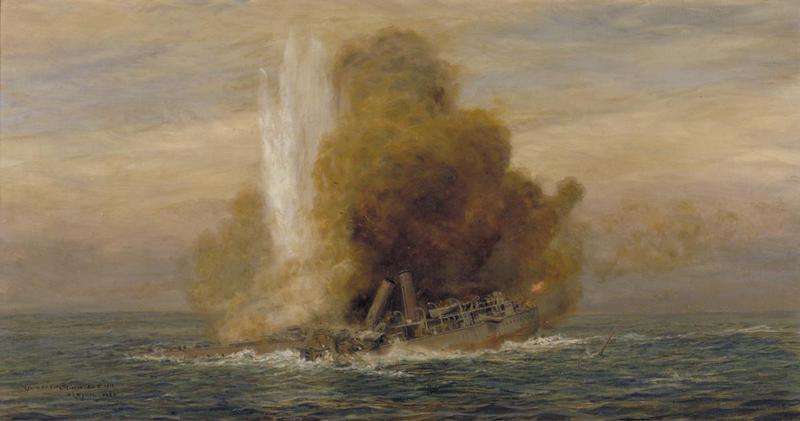 HMS Pathfinder sunk by an U-boat in 1914