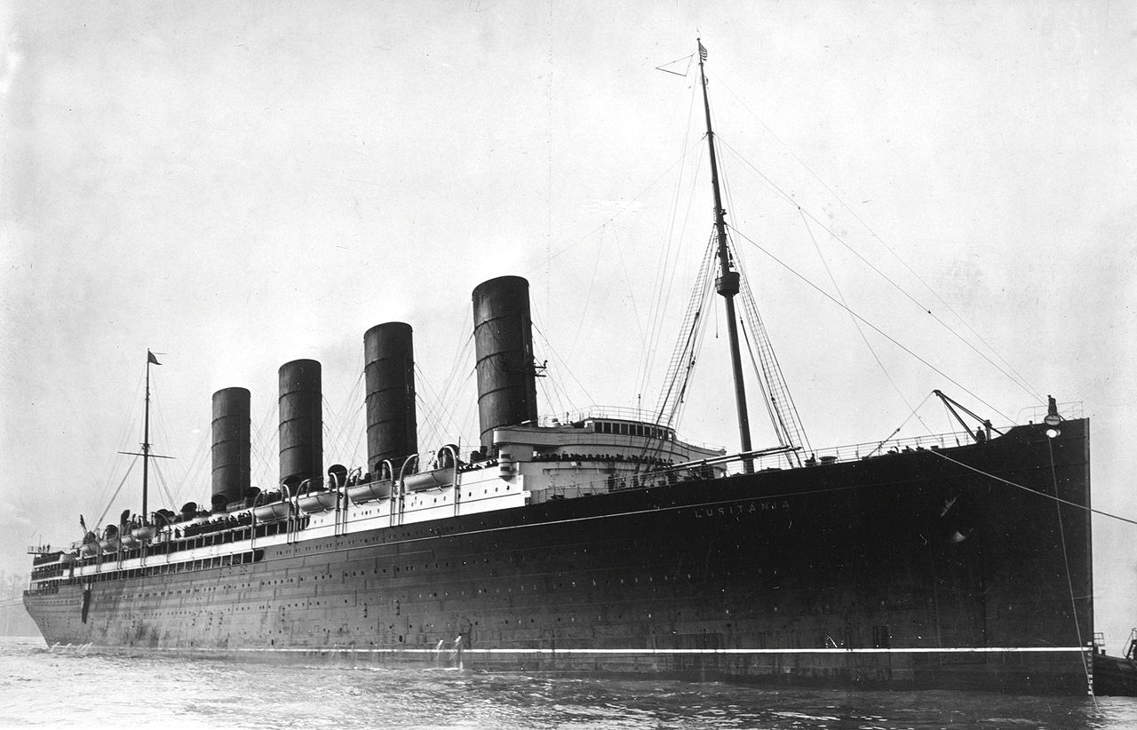 The position of Lusitania during its sinking