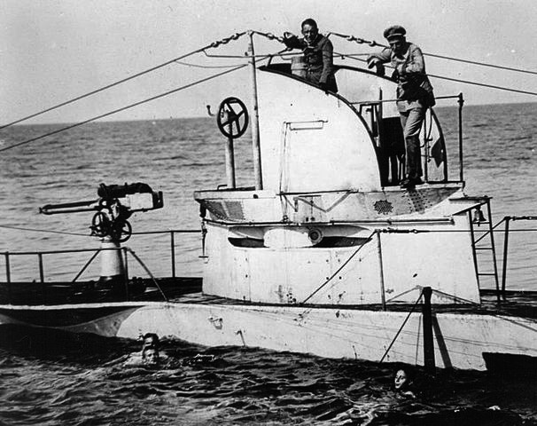 U-27, sank in August 1915